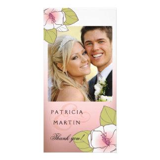 La foto floreciente de las flores de cerezo le agr tarjetas fotográficas