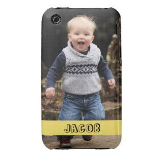 La foto grande personaliza su propia banda Case-Mate iPhone 3 protector