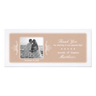 """La foto intemporal del boda del encanto le invitación 4"""" x 9.25"""""""