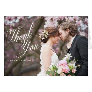 La FOTO LE AGRADECE CARDAR el boda le agradece Tarjeta Pequeña