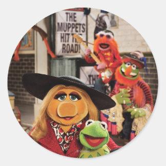 La foto más deseada 1 de los Muppets Pegatina Redonda