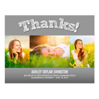 La foto multi del graduado de las gracias del tarjeta postal
