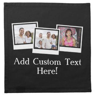 La foto personalizada 3-Photo enmarca color de enc Servilleta Imprimida