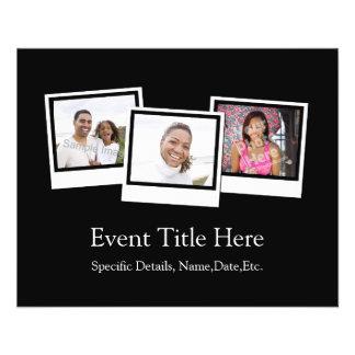 La foto personalizada 3-Photo enmarca color de Tarjeta Publicitaria