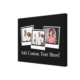 La foto personalizada 3-Photo enmarca color de Impresión En Lienzo