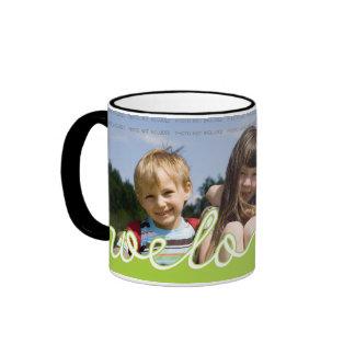 La foto personalizada del día de padres asalta el taza de dos colores