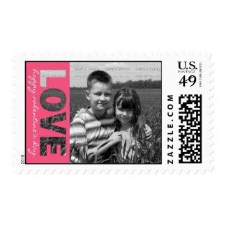La foto personalizada del el día de San Valentín Timbres Postales