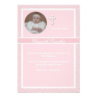 La foto personalizada rosa acariciada le agradece comunicados personales