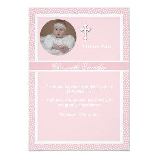 """La foto personalizada rosa acariciada le agradece invitación 3.5"""" x 5"""""""