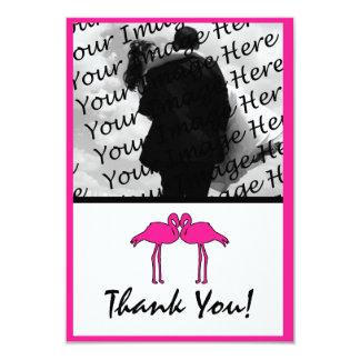 """La foto plana del flamenco rosado le agradece las invitación 3.5"""" x 5"""""""