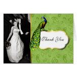 La foto preciosa del boda del pavo real le agradec felicitaciones