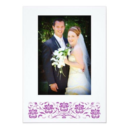 """La foto púrpura del boda de la orquídea le invitación 5"""" x 7"""""""
