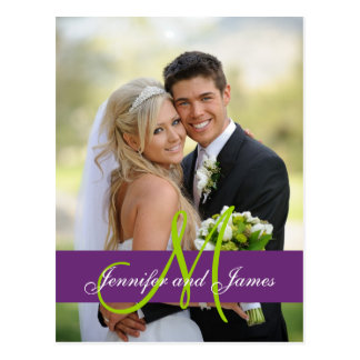 La foto púrpura del boda del damasco le agradece p postal