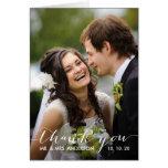 La foto que se casa simple de la escritura el | le tarjeta de felicitación