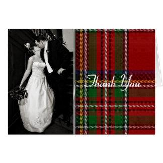 La foto real elegante de la tela escocesa de Stewa Tarjeta Pequeña