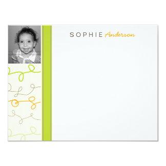 La foto retra de los niños de los garabatos de la invitación 10,8 x 13,9 cm