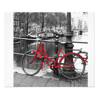 La foto roja del arte de la bici 1