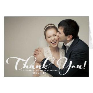 La foto romántica del boda de la escritura le agra tarjeta pequeña