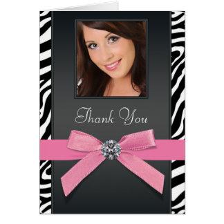La foto rosada de la cebra le agradece las tarjeta