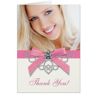La foto rosada de los diamantes blancos le agradec felicitación