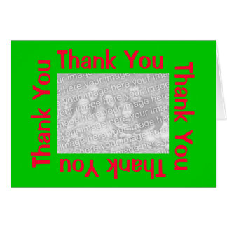 La foto rosada y verde agradece Yous Tarjeta Pequeña