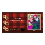 La foto rústica del día de fiesta de maderas del o tarjetas personales con fotos
