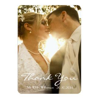 """La foto simple del boda de la escritura le invitación 5"""" x 7"""""""