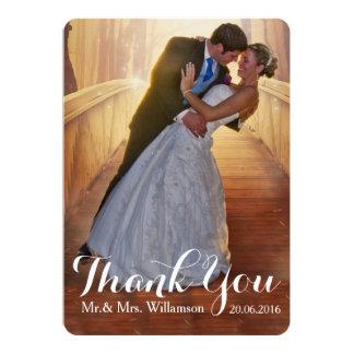 """La foto simple del boda le agradece invitación 5"""" x 7"""""""