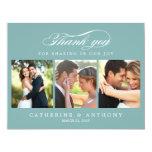 La foto simplemente elegante del boda le agradece invitacion personalizada