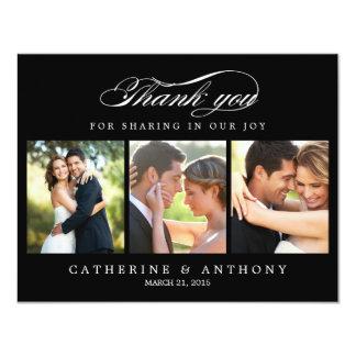 """La foto simplemente elegante del boda le agradece invitación 4.25"""" x 5.5"""""""