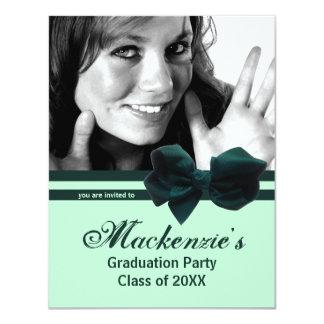 La foto verde de moda de la fiesta de graduación invitaciones personales