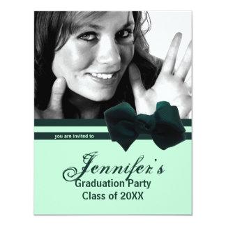 La foto verde de moda de la fiesta de graduación comunicados personales