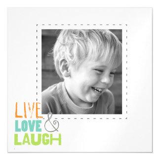 la foto viva de la risa del amor enrarece los invitaciones magnéticas
