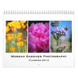 La fotografía de Morgan Gardner florece 2013 Calendario De Pared
