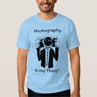 La fotografía es mi azul de la cosa camisas