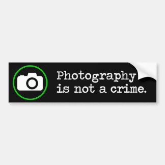La fotografía no es un crimen pegatina para auto