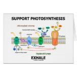 La fotosíntesis de la ayuda exhala (ambiental) felicitación