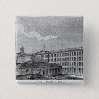 La Foudre' cotton mill Pinback Button