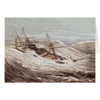 La fragata del vapor de Mississippi en un tifón Tarjeta