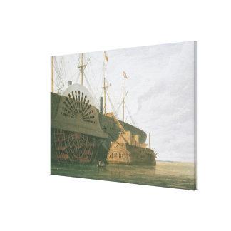 La fragata vieja HMS Agamemnon con su peso de c Impresion En Lona