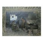 La fragua en Margoso-le-ROI, los Yvelines, 1875 Tarjeta Postal