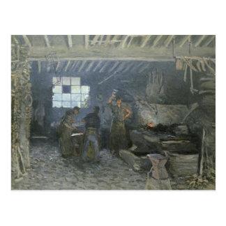 La fragua en Margoso-le-ROI, los Yvelines, 1875 Postal