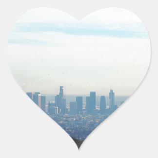 LA framed mountain Heart Sticker