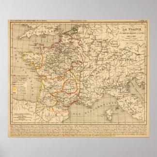 La France 1180 a 1223 Poster