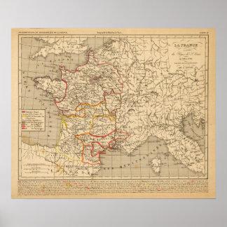 La France 1223 a 1270 Poster