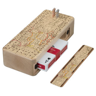 La France 1223 a 1270 Wood Cribbage Board