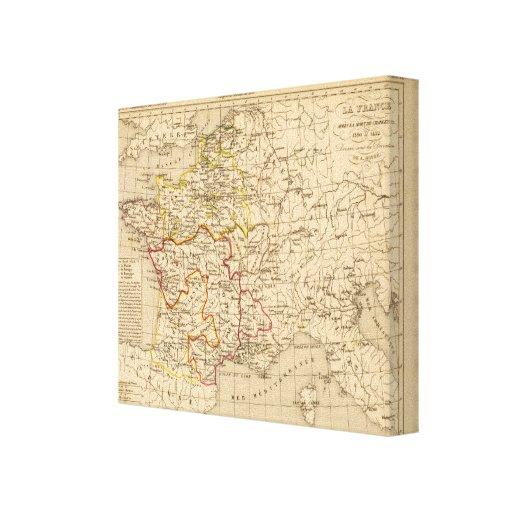 La France 1380 a 1422 Stretched Canvas Prints
