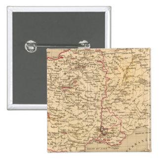 La France 1461 a 1483 2 Inch Square Button