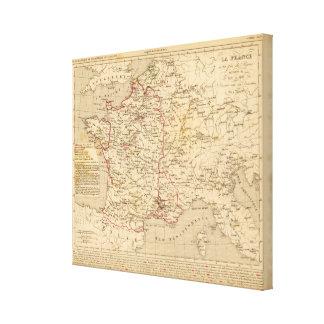 La France 1461 a 1483 Canvas Print
