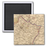 La France 1814 a 1840 2 Inch Square Magnet